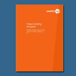 Project briefing template feature