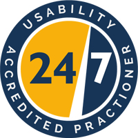 Usability24/7 Accredited Practitioner