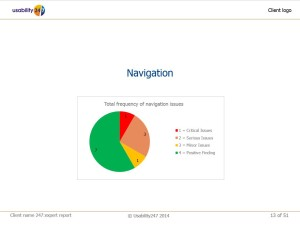 Usability Audit pie chart