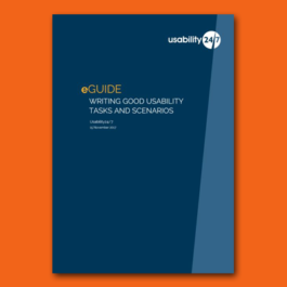 usability task and scenario eguide
